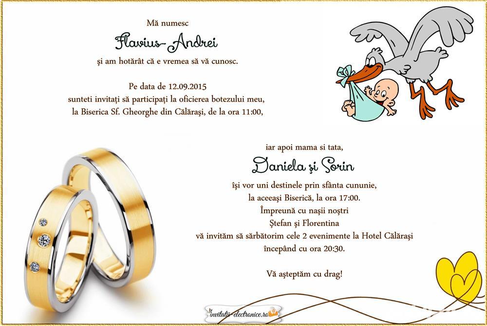 Invitatii Nunta Botez 2 In 1 Sector 2 Servicii Publi24ro