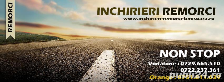 Inchiriez remorci auto platforme auto 75 ron/zi  +vinieta ungaria gratis
