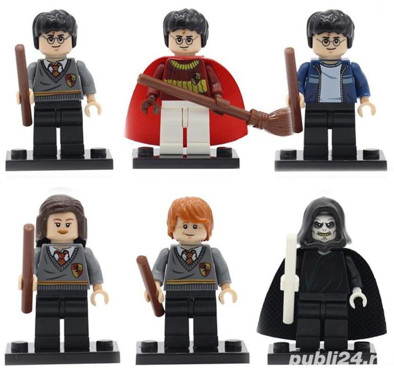 Set 6 Minifigurine tip Lego Harry Potter, Hermione, Ron, Lord Voldemort