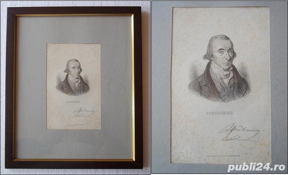 Tablou - Louis-Marie Prudhomme (1752 - 1830), gravura cu autograf - pt colectionari