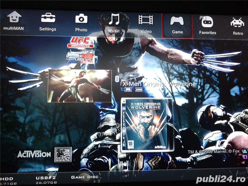 hdd extern 500 GB,35 jocuri ps3 ,GTA 5,FIFA 19,NFS,GOD OF WAR
