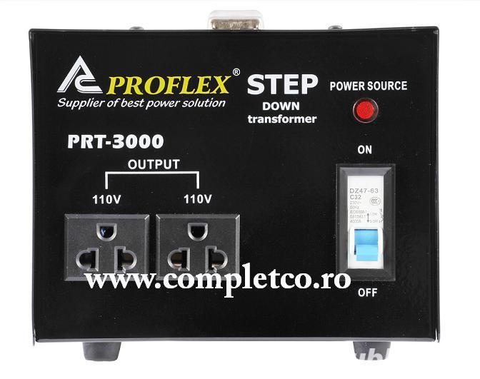 Transformator / Convertor tensiune 220V-110V 3000W, gama PREMIUM Proflex
