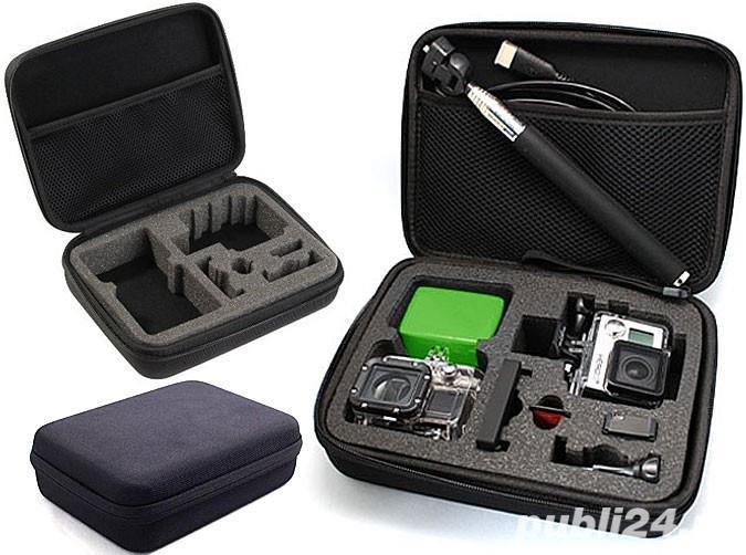 Accesorii GoPro: sistem prindere, manusa, carcasa, brat extensie, floaty bober, montura mana.