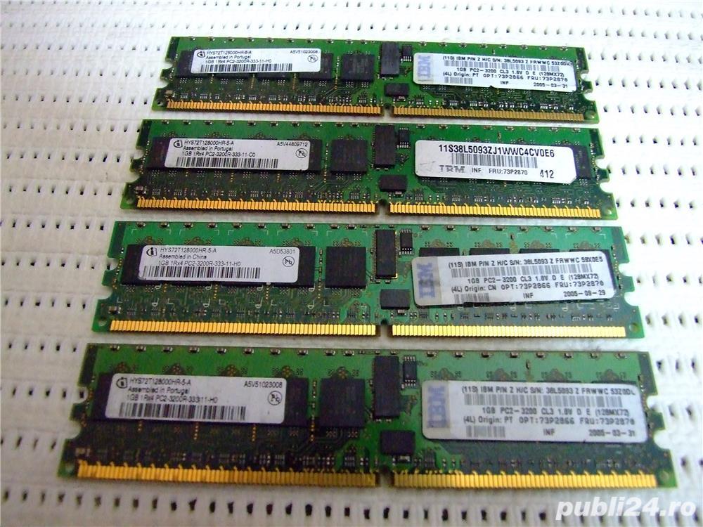 Memorie ram server workstation Infineon 1GB PC2-3200R DDR2-400MHz ECC Registered