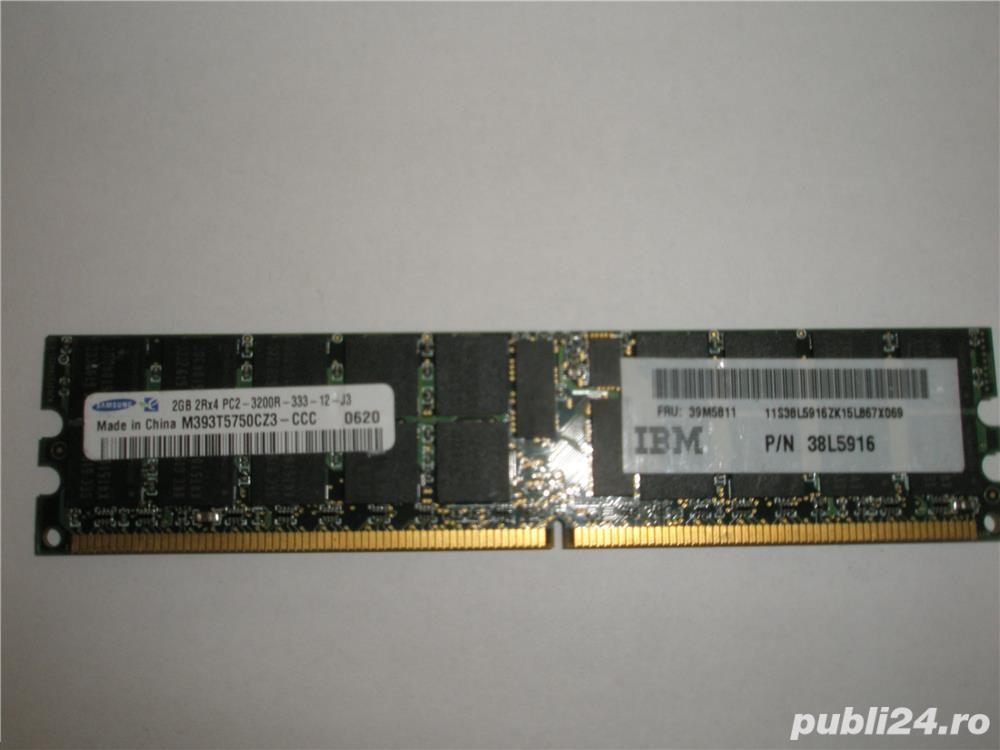 Memorie ram server workstation Samsung 2GB PC2-3200R DDR2-400 register