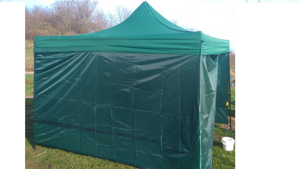 cort verde / albastru pavilion inchis 3x3m nou