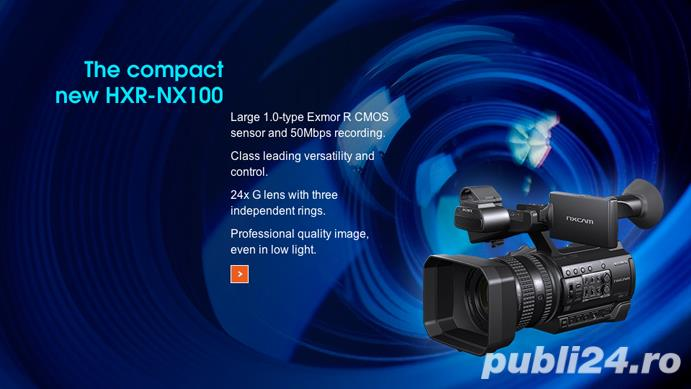 Stoc videocamere Sony HXR-NX100 / Panasonic AG-AC30 : model 2016