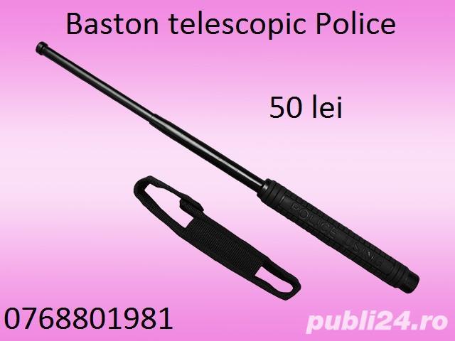 Baston telescopic Police cu 3 segmente