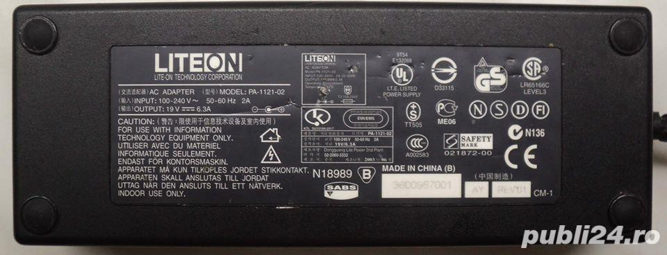 Alimentator-Incarcator Laptop 19V, 6,3A (fara cabluri)