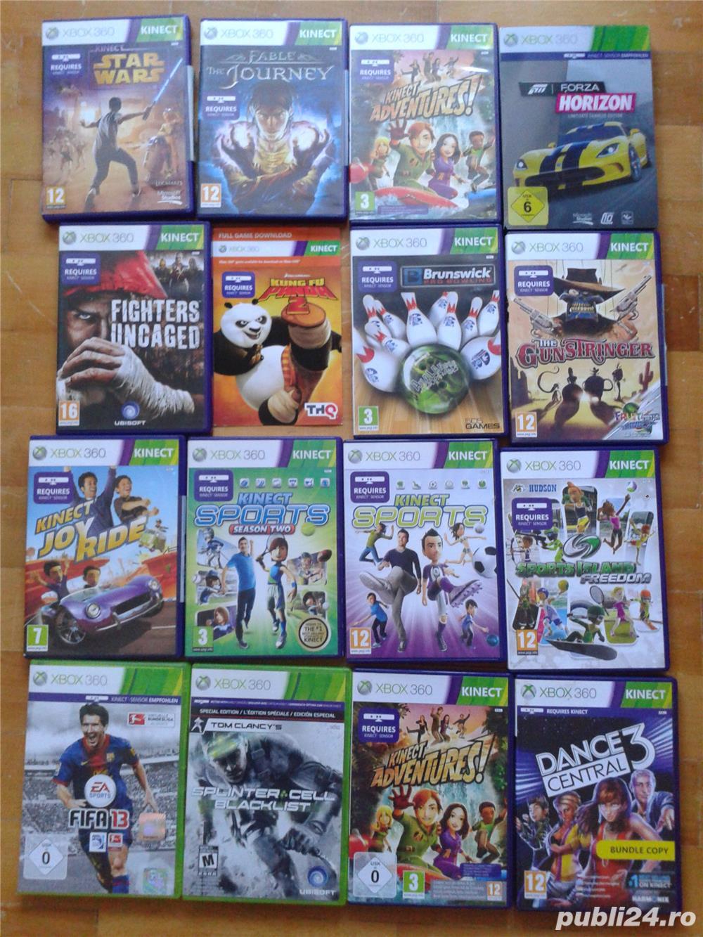 vand pachet de 32 jocuri sau la bucata  kinect xbox 360,sport,aventura,distractive