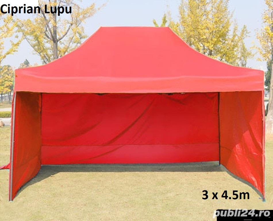 Pavilion cort 3x4.5m pliabil metalic