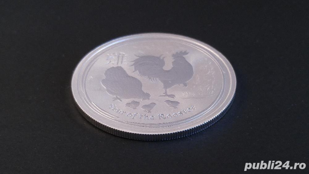 DE VANZARE: 15,55g (1/2oz) Moneda de Argint Year of The Cock 2017