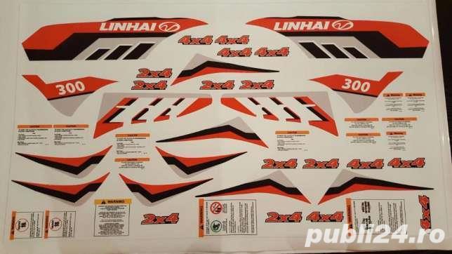 Stickere abtipilduri logo ATV Linhai 300