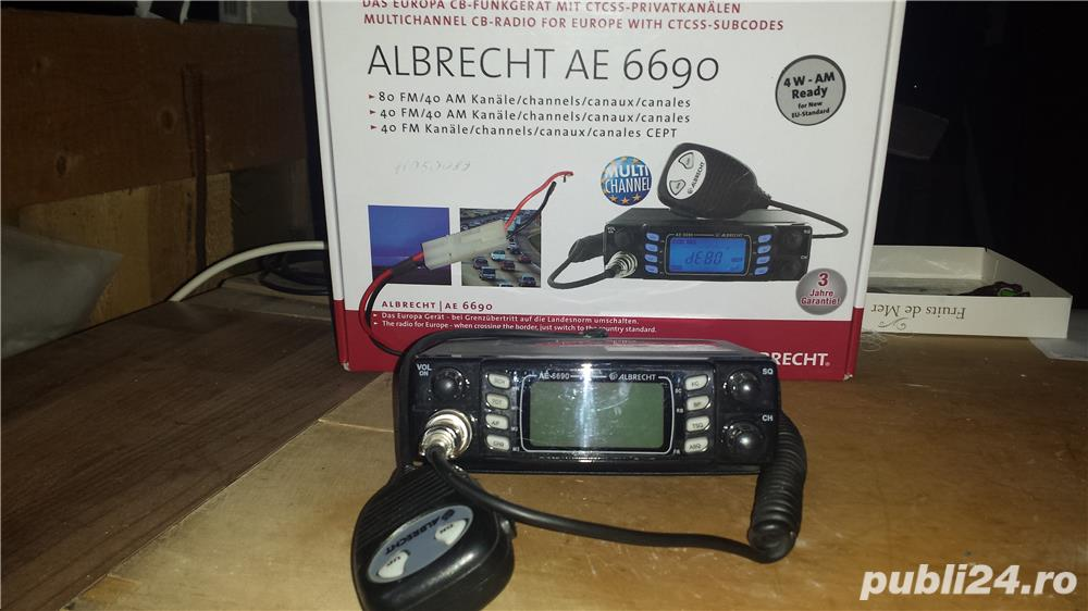 STATIE RADIO CB ALBRECHT AE 6690 cu cablu 4 m si antena lunga