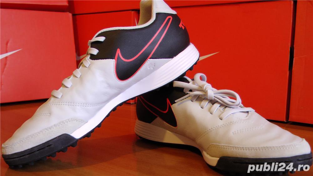 Ghete fotbal sintetic NOI Nike Tiempo marimea 41 piele naturala