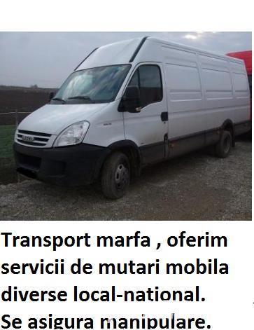 Transport marfa timisoara -mutari mobila- electrocasnice - bagaje -relocari.debarasari ! ridic moloz