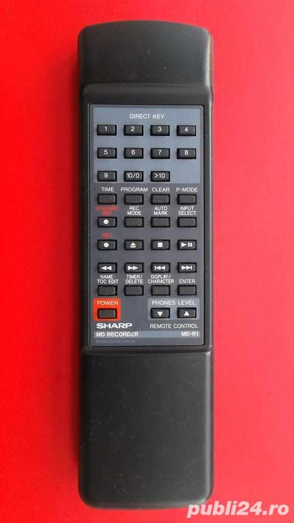 Telecomanda SHARP MD-R1 RRMCG0083AWSA pt.mini disc recorder,originala