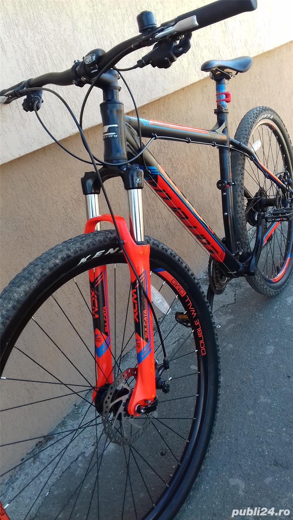 Mountain bike 29 Carrera Sulcata aluminiu 24 viteze alarma