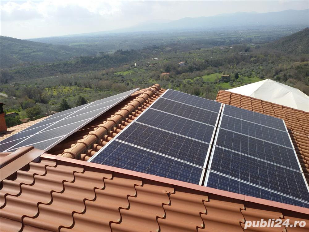 Sistem solar fotovoltaic ! panouri , acumulatori , invertor, regulator