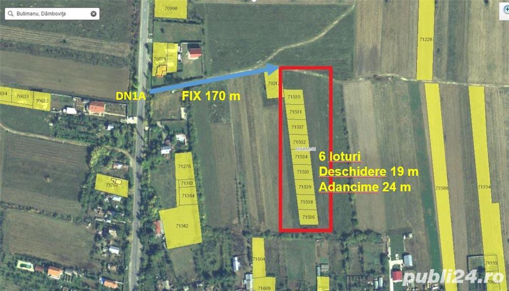 Butimanu, teren de casa 480 mp, intravilan - 3.900 euro