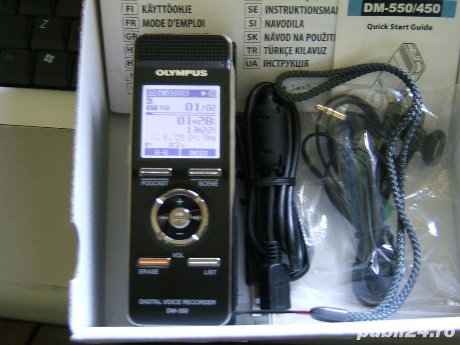 4GB reportofon ultra-profesional Olympus DM-550 ca nou