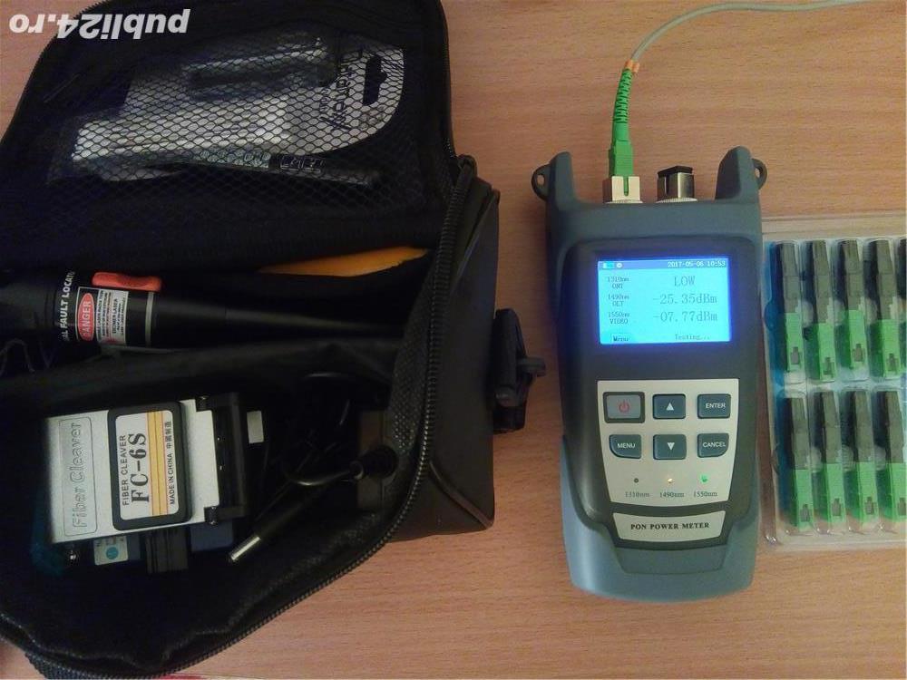 Verificare semnal optic ,mufare conectori fibra optica