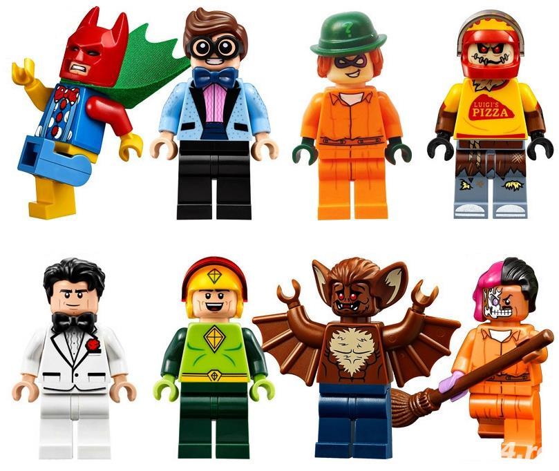 Set 8 Minifigurine tip Lego Batman 2017 cu Scarecrow Pizza Delivery