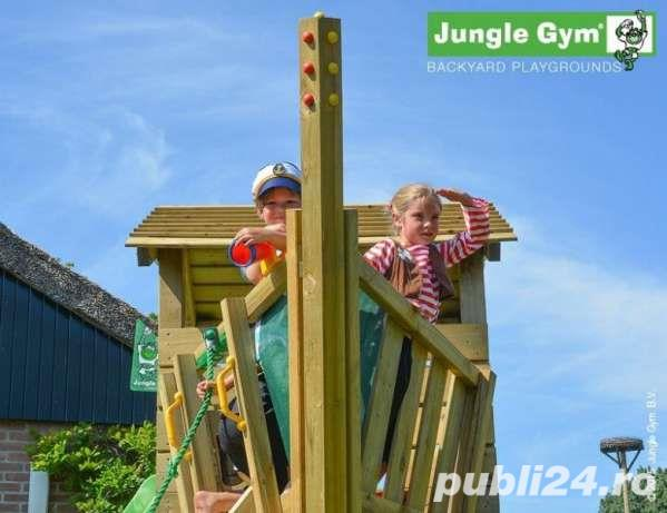 Loc de joaca Jungle Gym Cottage-Bridge-Swing - LIVRARE IN TOATA TARA