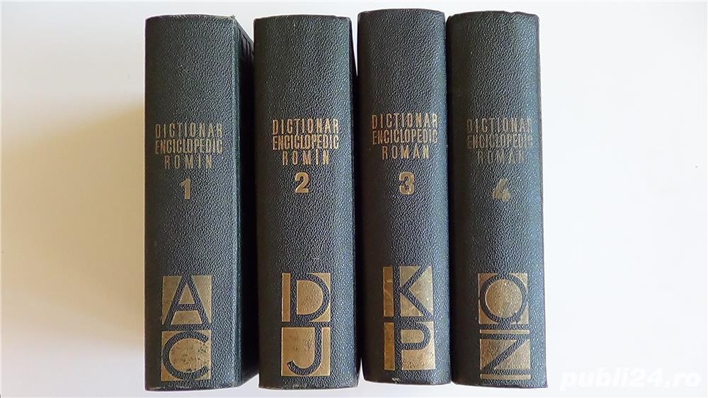 Dictionarul Enciclopedic Roman,Academia R.P.R.- 4 vol. 1962-1966