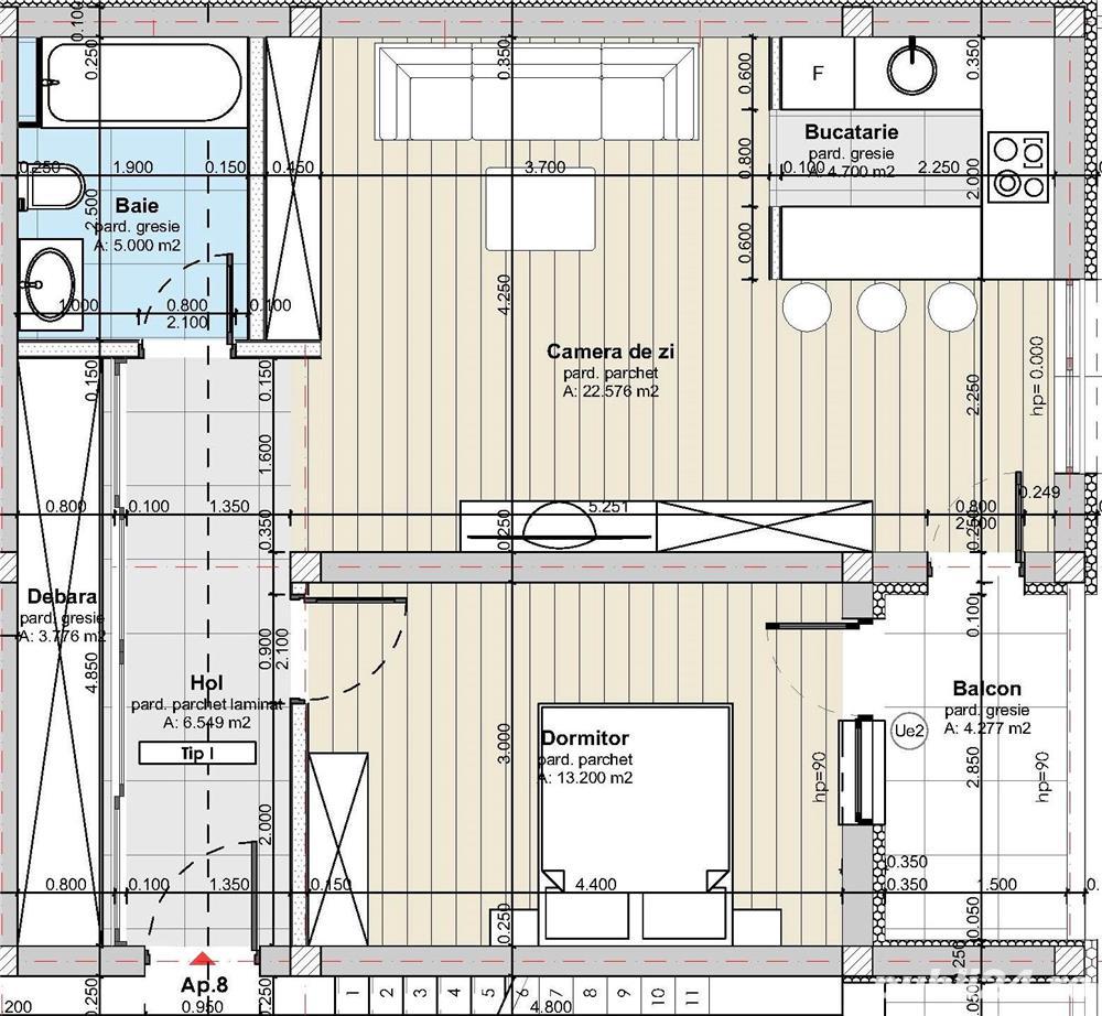 Apartament 2 camere, 56mp, Apahida