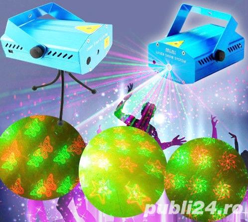 Laser disco bar rosu si verde cu trepied si incarcator priza 220V