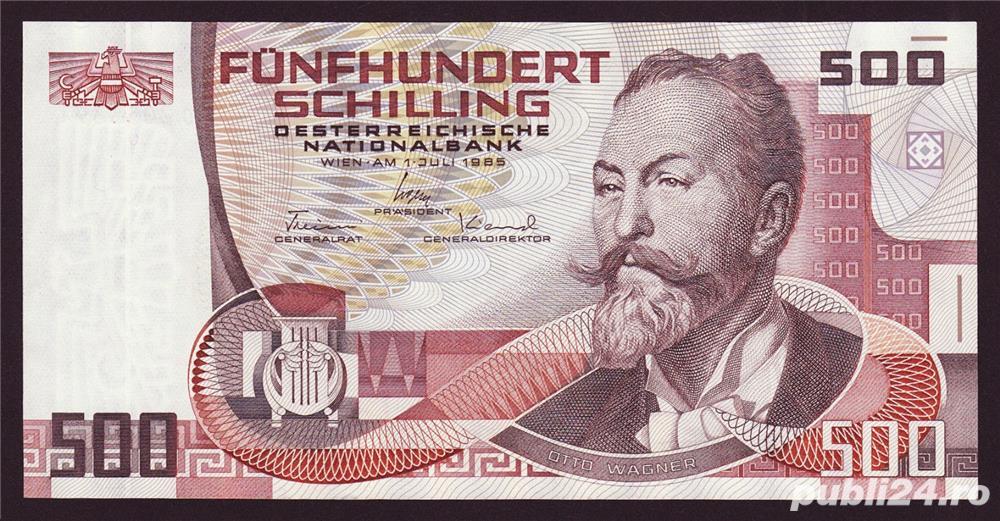 Cumpar 500 de schilling de austria, atat monede cat si bancnote ofer pret bun !!!