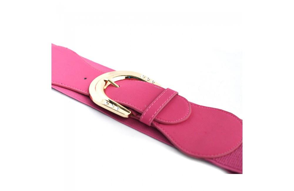 Curea dama roz, 6cm, elastica