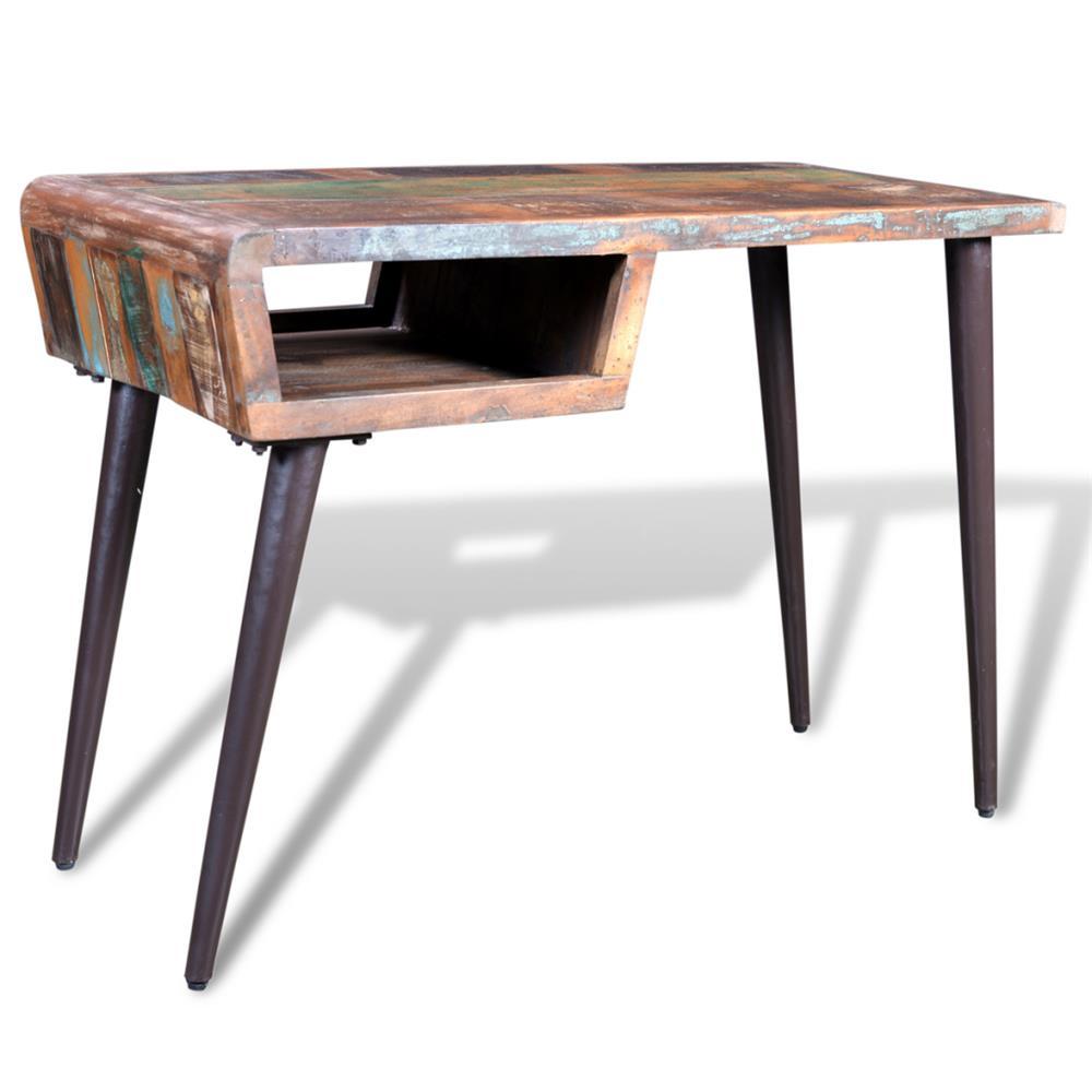 Birou din lemn reciclat cu picioare de fier 241138
