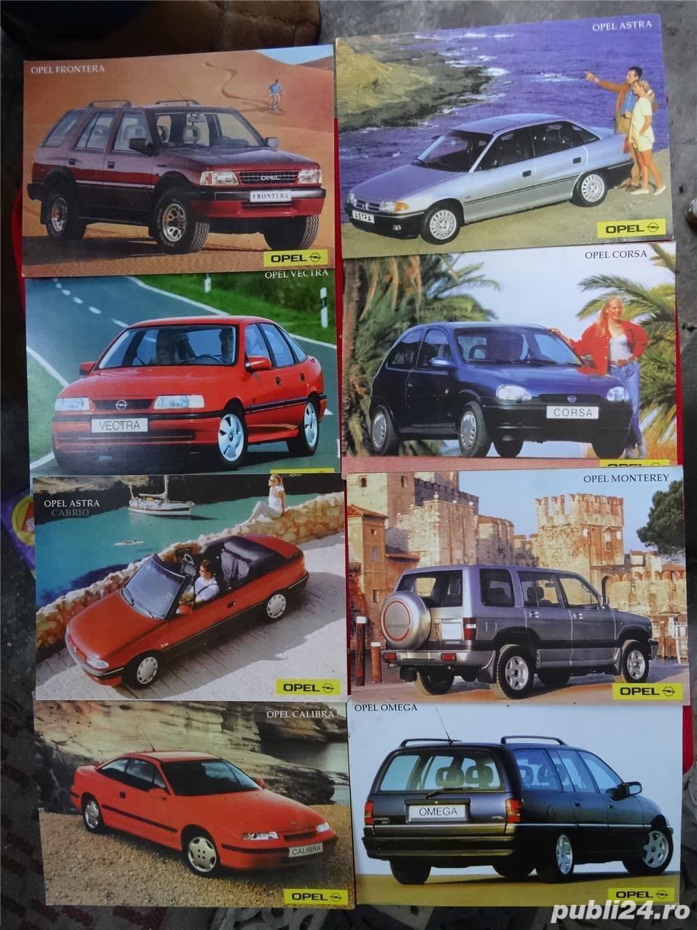 """Carti Postale cu seria auto """"OPEL""""-1992"""