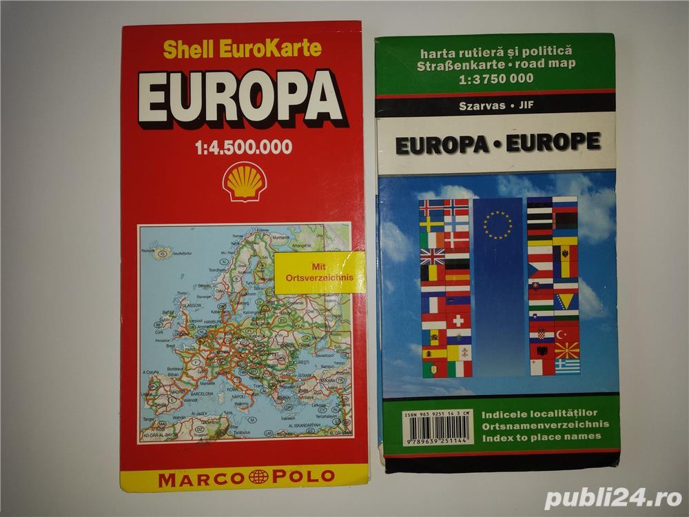 Harta rutiera Europa.