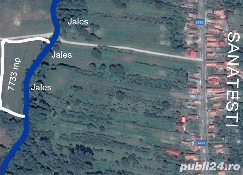 7733 mp in Runcu pe malul Jalesului