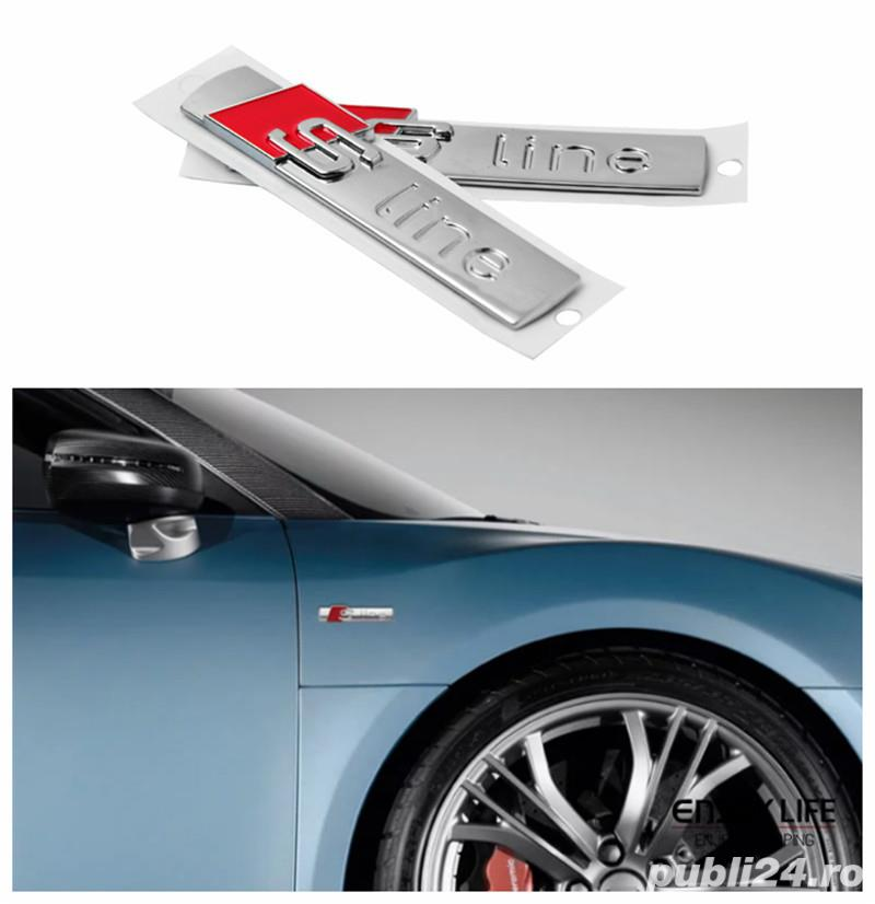 Embleme Audi S-line 3D aripi/bandou usa