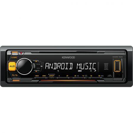 Radio MP3 player auto Kenwoood KMM-103AY cu USB si AUX-1 DIN
