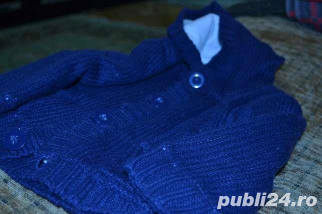 Vand hanorac tricotat imblanit, 6-9 luni