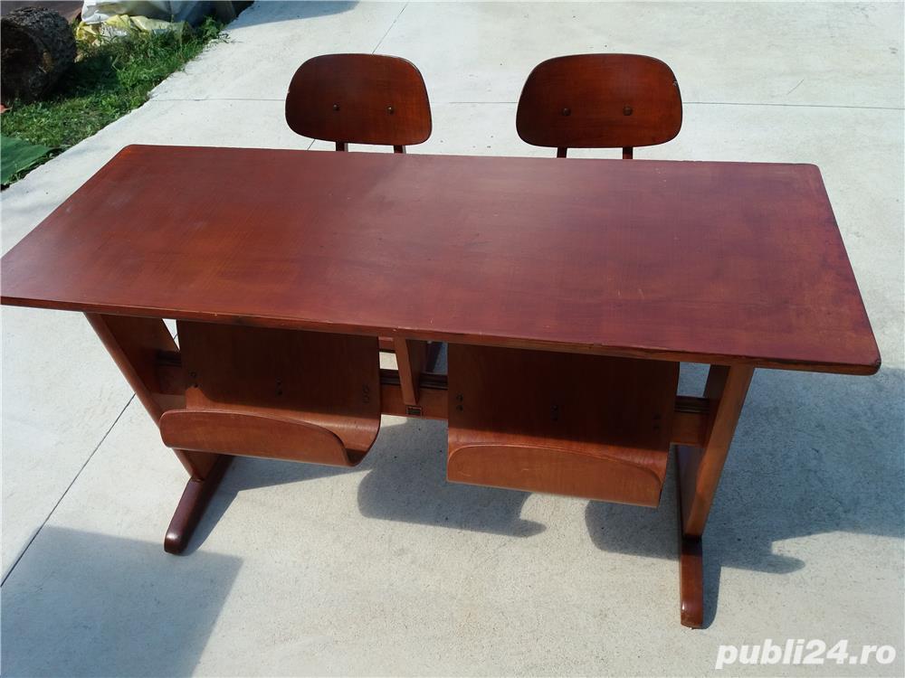 birou cu 2 scaune ptr. copii tip scoala
