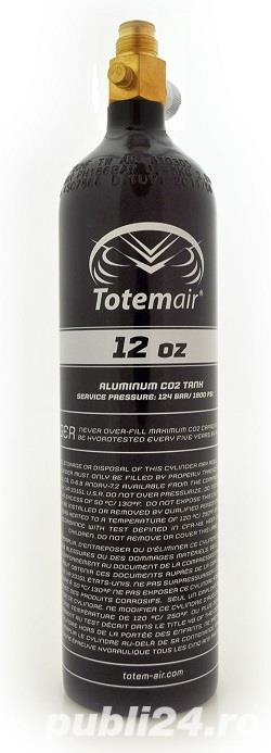 Butelie co2 Paintball Totem Air 12 Oz Pi Bottle + On/Off Valve