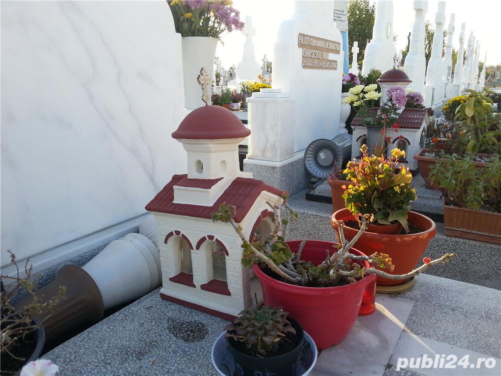 biserica in miniatura, figurine beton, amenajari exterior