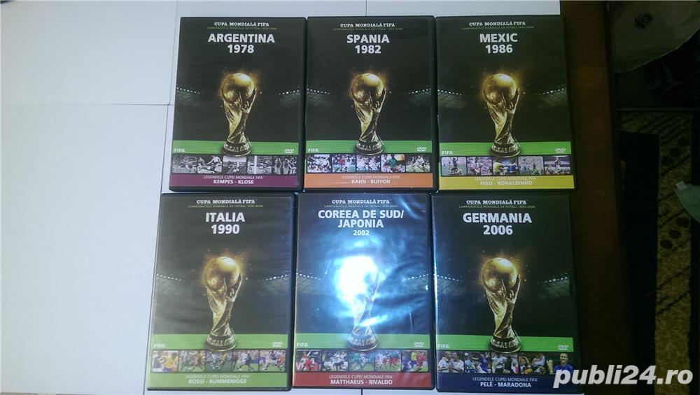 "Vand 6 DVD-uri originale ""Istoria Campionatelor Mondiale de Fotbal"