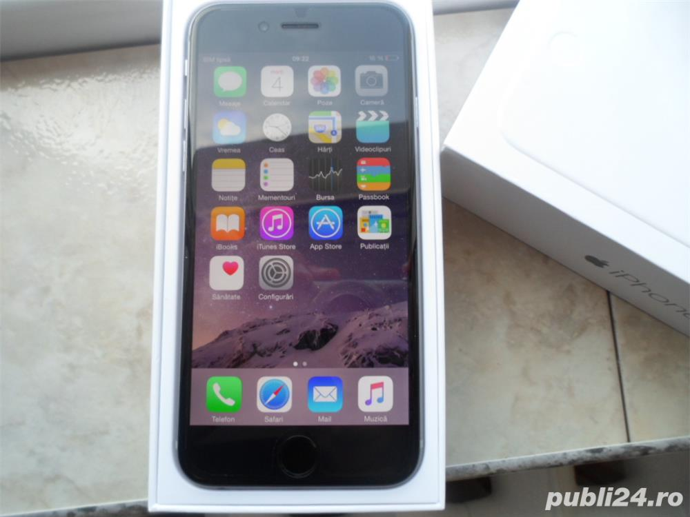 IPhone 6 Negru Space Gray 64 GB Memorie Liber Neverlocked Apple !