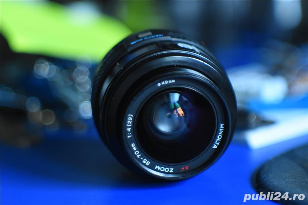 Minolta Maxxum AF 35-70 F4 Sony Alpha Beercan /STARE EXCELENTA Foto reale, PROBAT