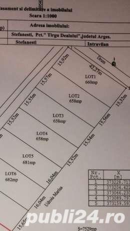 Loturi teren constructii case noi / vis-a-vis de Primaria Stefanesti/ toate utilitatile