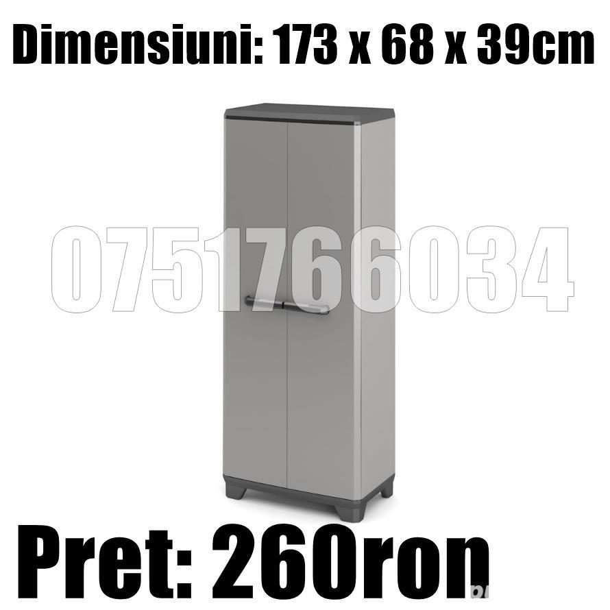 Dulap Vestiar Cabinet Depozitare Organizator Plastic Demontabil Usi 173 x 68 x 39cm