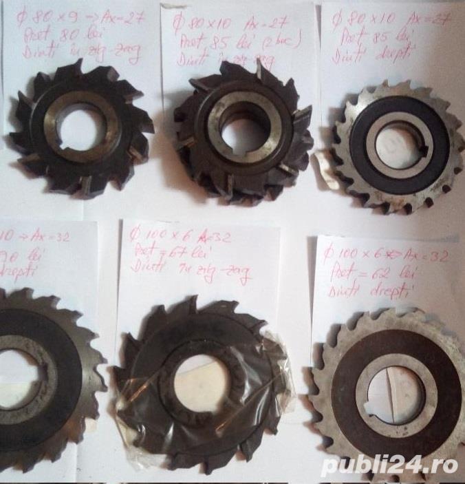 Freze disc noi pentru metal Ø 63 - Ø 100, grosimi 5 - 22 mm.