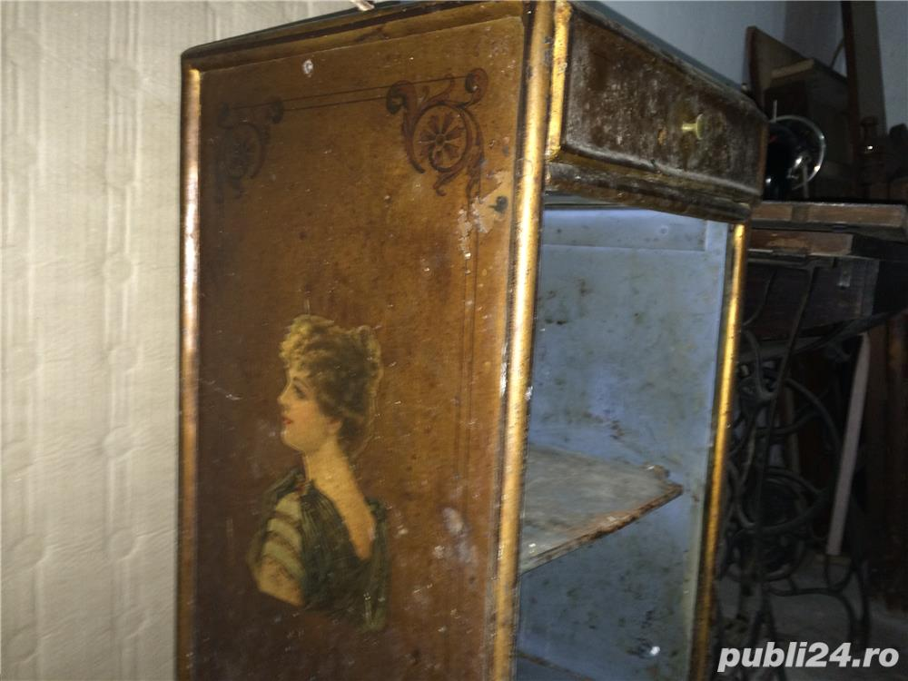 Masuta-dulapior bronz de colectie incrustatii emailate